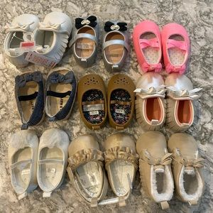 Baby girl shoes sizes 0-3 months